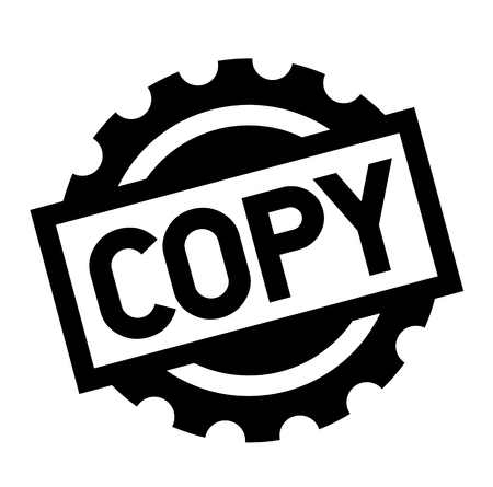 copy black stamp on white background. Sign, label, sticker