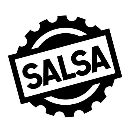 salsa black stamp on white background. Sign, label, sticker Illustration