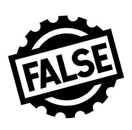 false black stamp on white background. Sign, label, sticker
