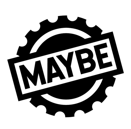 maybe black stamp on white background. Sign, label, sticker Illusztráció