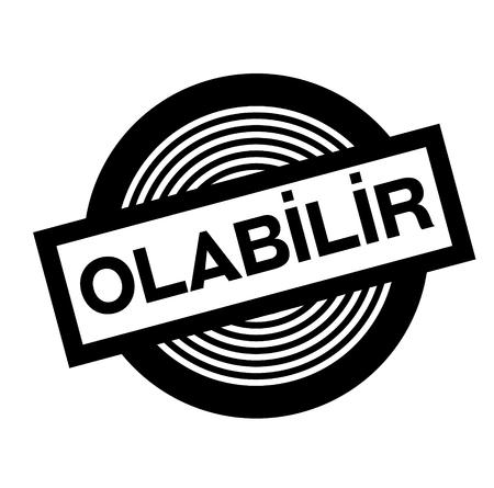 maybe black stamp in turkish language. Sign, label, sticker