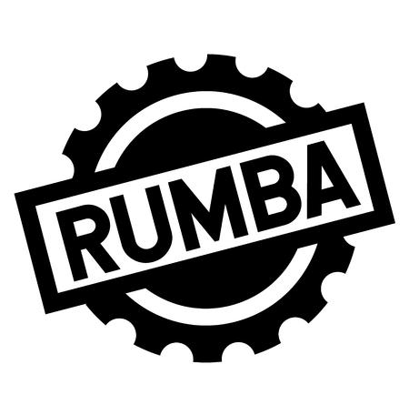 rumba black stamp on white background. Sign, label, sticker Illustration