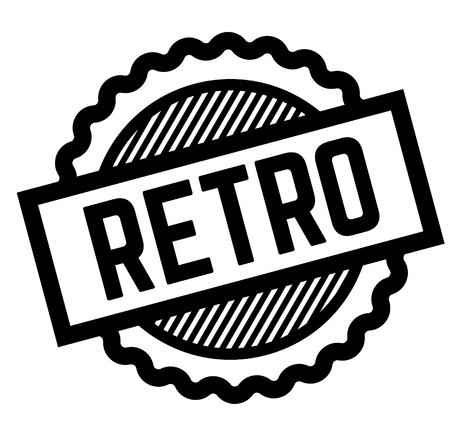 retro black stamp Иллюстрация