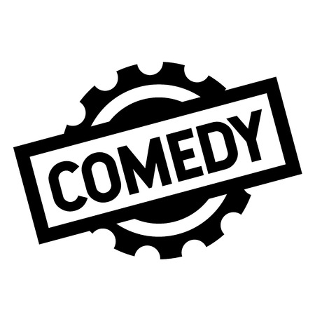 comedy black stamp on white background. Sign, label, sticker