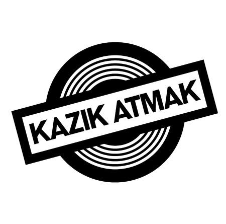 ripoff black stamp in turkish language. Sign, label, sticker