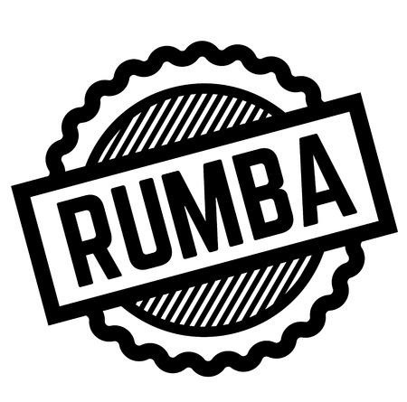 rumba black stamp in turkish language. Sign, label, sticker