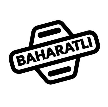 spicy black stamp in turkish language. Sign, label, sticker