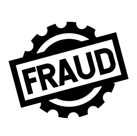 fraud black stamp on white background. Sign, label, sticker
