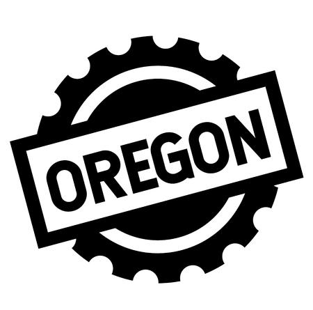 oregon black stamp on white background. Sign, label, sticker Illustration