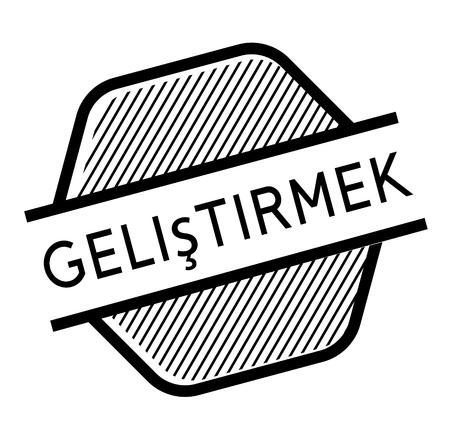 improve black stamp in turkish language. Sign, label, sticker Stockfoto - 111912566