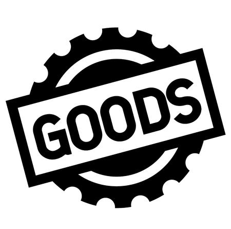 goods black stamp on white background. Sign, label, sticker Illustration