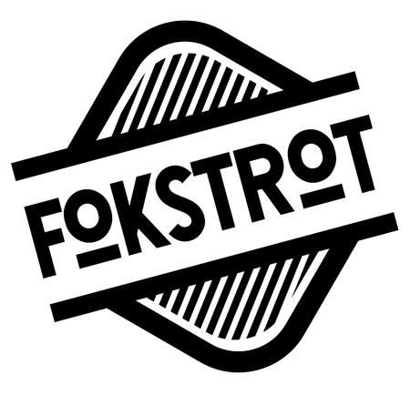 foxtrot bla ck stamp in turkish language. Sign, label, sticker Stock Illustratie