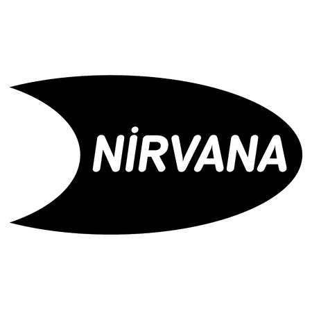nirvana bla ck stamp in turkish language. Sign, label, sticker