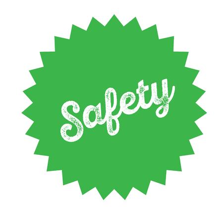 safety stamp on white