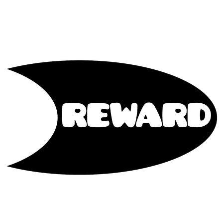 reward stamp on white background . Sign, label sticker