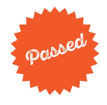 passed stamp on white