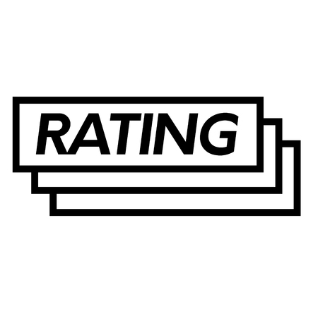 rating stamp on white background . Sign, label sticker