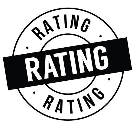 rating stamp on white 向量圖像