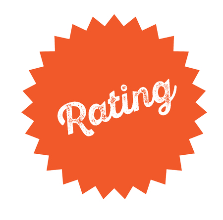 sello de calificación en blanco