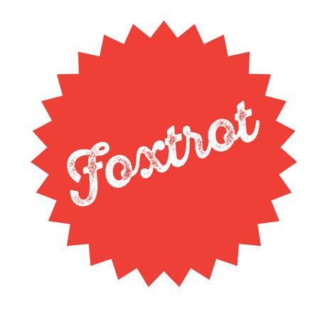 foxtrot stamp on white Illustration