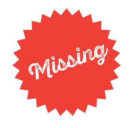 missing stamp on white background . Sign, label sticker