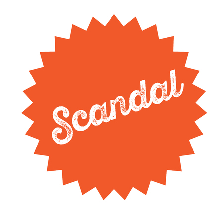 scandal stamp on white