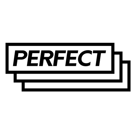 perfect stamp on white background . Sign, label sticker Vectores