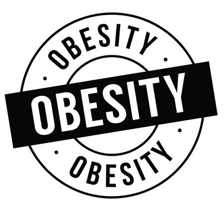 obesity stamp on white