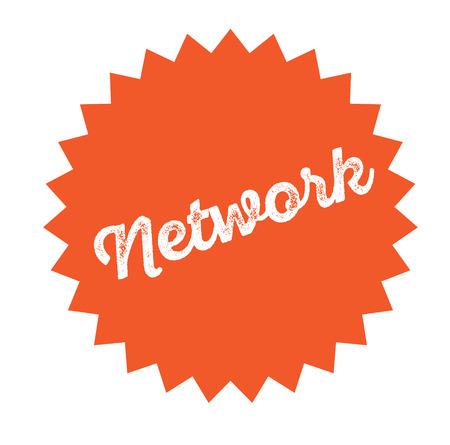 network stamp on white Иллюстрация
