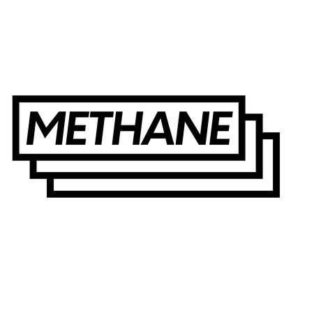 methane stamp on white background . Sign, label sticker