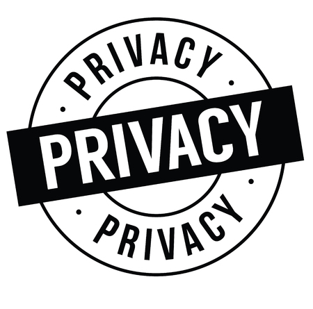 privacy stamp on white
