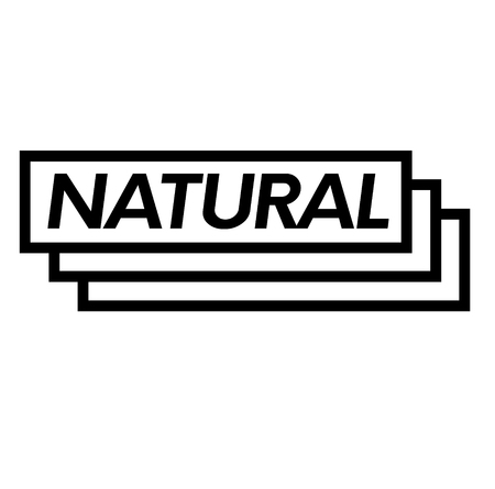 natural stamp on white background . Sign, label sticker