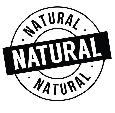 natural stamp on white
