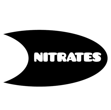 nitrates stamp on white background . Sign, label sticker Stok Fotoğraf - 106726879
