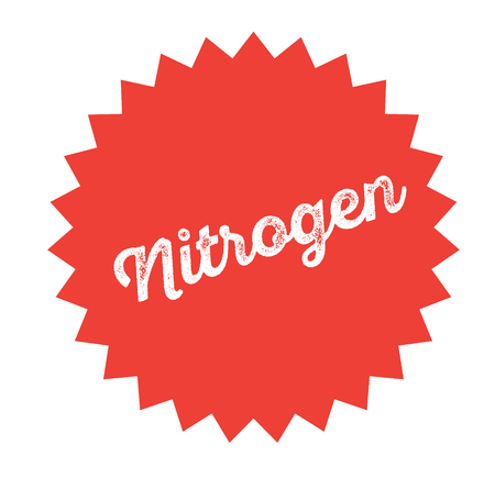nitrogen stamp on white background . Sign, label sticker