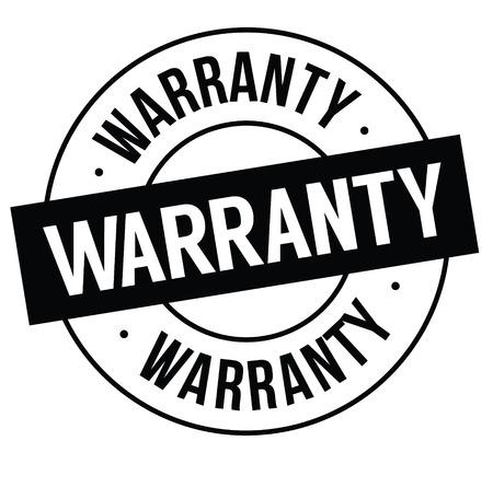 warranty stamp on white