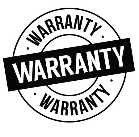 warranty stamp on white Stock Vector - 106733604