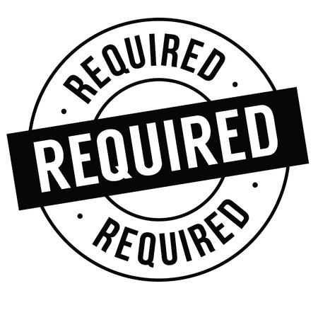 required stamp on white background . Sign, label sticker Standard-Bild - 111884074
