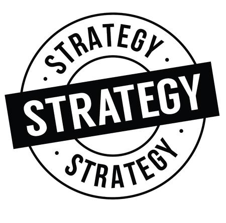 strategie stempel op witte achtergrond. Teken, label sticker