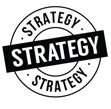 strategy stamp on white background . Sign, label sticker