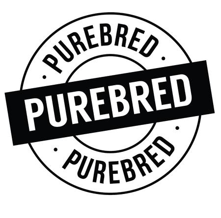purebred stamp on white