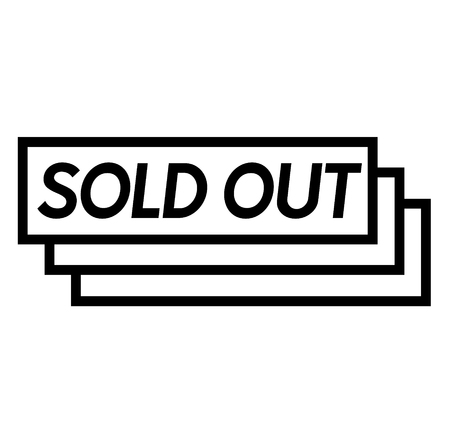 sold out stamp on white background . Sign, label, sticker