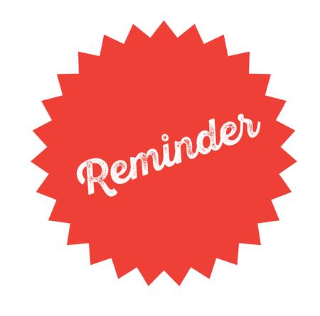 reminder stamp on white
