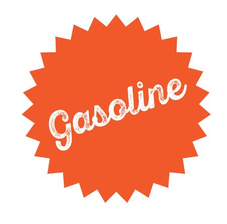 gasoline stamp on white