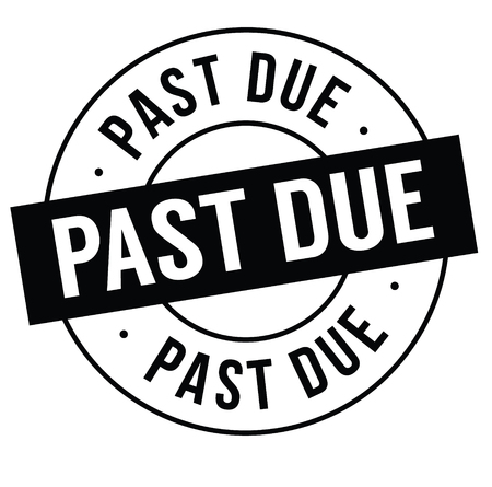 past due stamp on white background . Sign, label, sticker