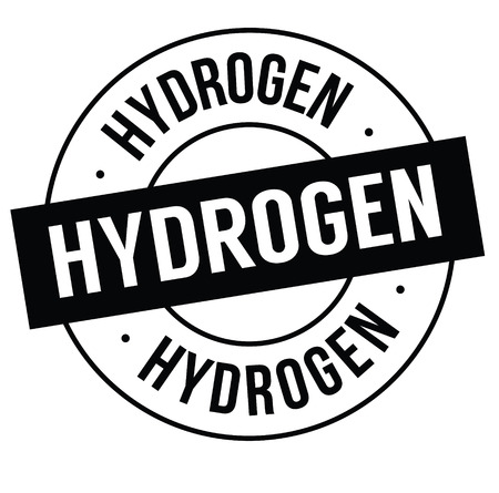 hydrogen stamp on white Illustration