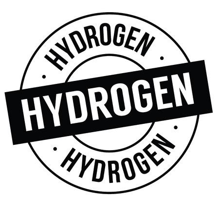 hydrogen stamp on white Illustration