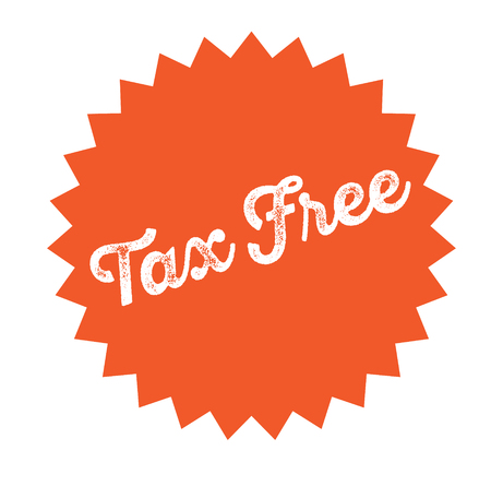 tax free stamp on white background . Sign, label, sticker