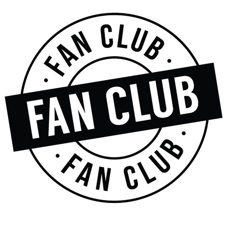 fan club stamp on white background . Sign, label, sticker