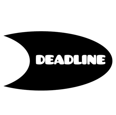 deadline stamp on white background . Sign, label sticker